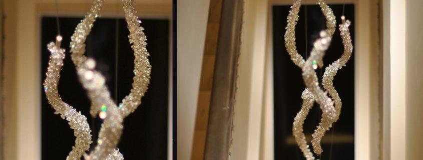 Polar light – illuminazione su ordinazione nell'Hotel Zara, Manooi Crystal Chandeliers