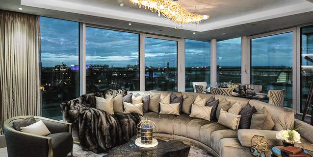 Vague in un lussuoso appartamento a Londra, Manooi Crystal Chandeliers