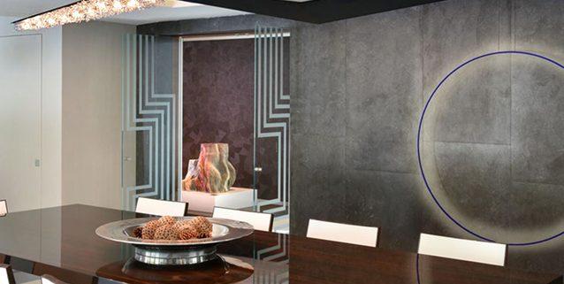 Wissh in una cucina moderna a Miami, Manooi Crystal Chandeliers