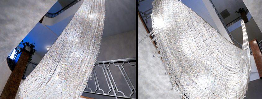 Creazione di Cristallo su ordinazione – Icefall, Manooi Crystal Chandeliers