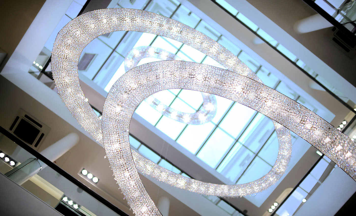 Looop Salamander Crystal Chandelier