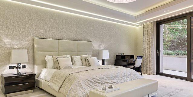 Lussuosa stanza da letto a Londra, Manooi Crystal Chandeliers